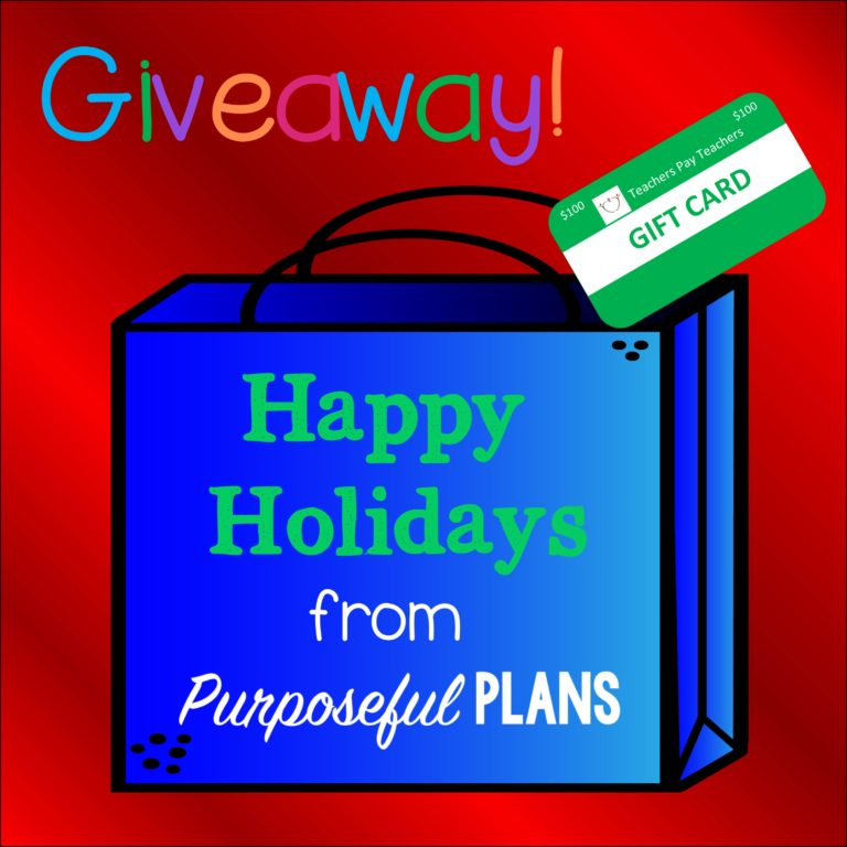 The Holiday $100 TpT Giveaway is Back!